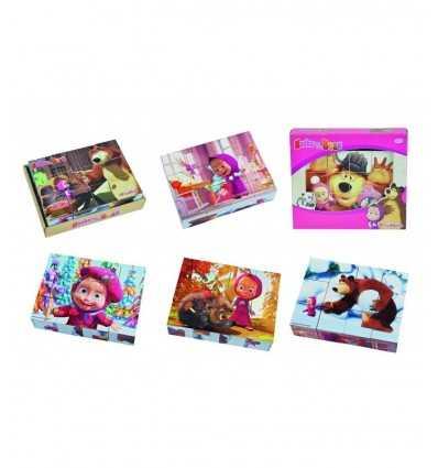 masha cubetti in legno pezzi 12 109304088 Simba Toys-Futurartshop.com