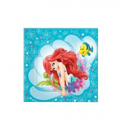Servietten Ariel Little Mermaid 20-teilig 5PR82207 New Bama Party- Futurartshop.com
