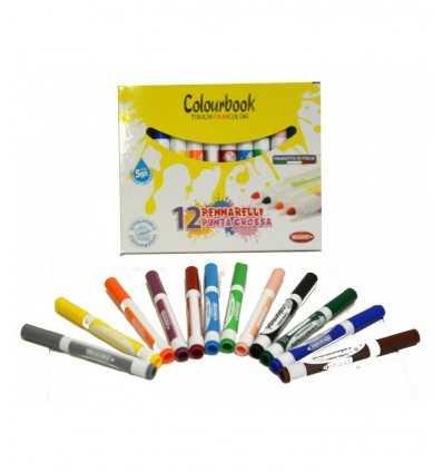 Maxi-Marker-12 Farben Colourbook Fibracolor- Futurartshop.com