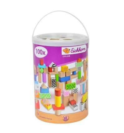 Eichhorn wooden colored bricks 100 pieces 2228 Simba Toys- Futurartshop.com