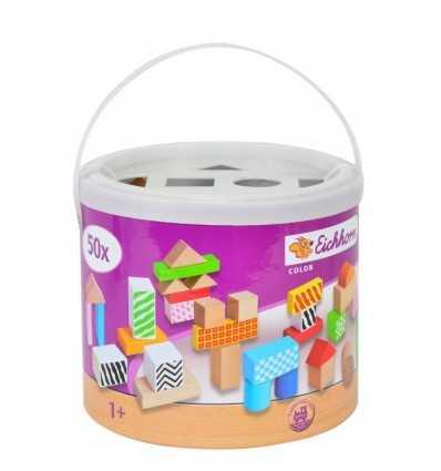 色木製キューブ 50 個セット 100002226 Simba Toys- Futurartshop.com