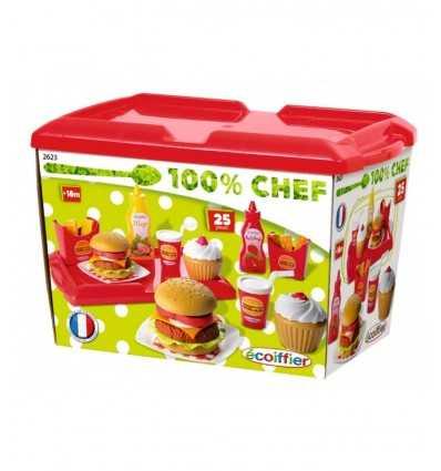 Ecoiffier Burger zestaw z akcesoriami 7600002623 Simba Toys- Futurartshop.com
