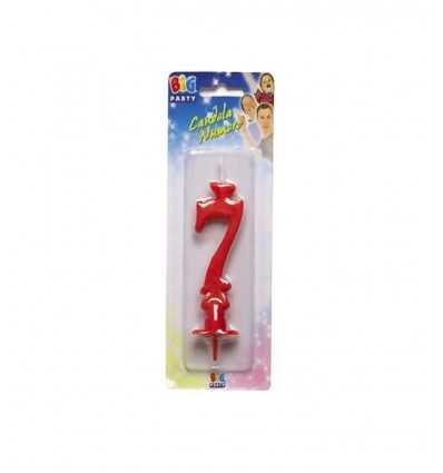 Большая красная свеча номер 7 New Bama Party- Futurartshop.com
