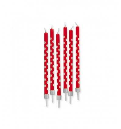 stem candle with red polka dot support New Bama Party- Futurartshop.com