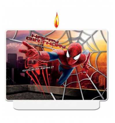 bougie spiderman joyeux anniversaire 5PR82912 New Bama Party- Futurartshop.com