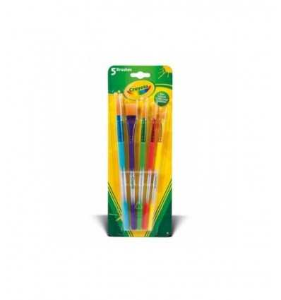 Crayola 5 paint brushes assorted 3007 Crayola- Futurartshop.com