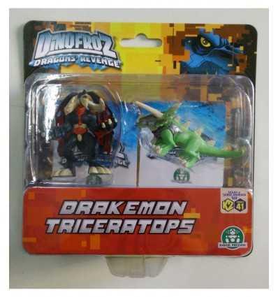Dinofroz blister con 2 personaggi Drakemon e Triceratops CCP07966/D Giochi Preziosi-Futurartshop.com