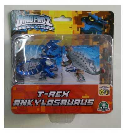 Dinofroz Blister mit 2 T-Rex-Zeichen und Ankylosaurus CCP07966/T Giochi Preziosi- Futurartshop.com