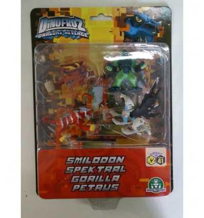 Dinofroz blister with 4 characters Smilodon Spektral gorillas and Petrus CCP07967/G Giochi Preziosi- Futurartshop.com