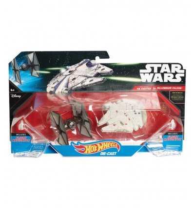 Hot Wheels Star Wars Tie Fighter statki vs Sokół Millennium CGW90/CGW95 Mattel- Futurartshop.com