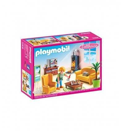 ストーブと木のプレイモービル リビング ルーム 5308 Playmobil- Futurartshop.com