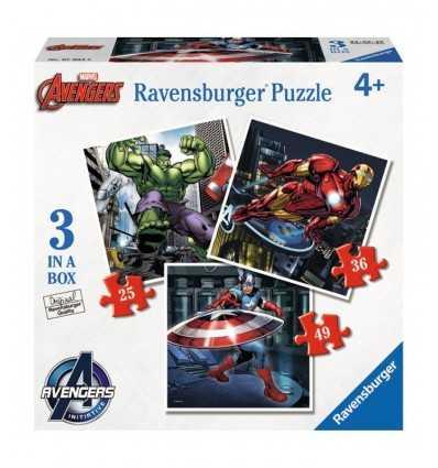 3 in 1 Avengers Puzzle 07004 Ravensburger- Futurartshop.com