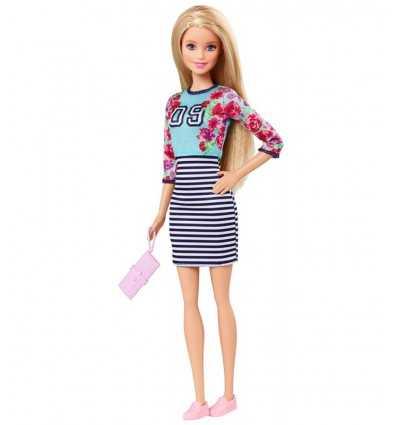 白と青のストライプでバービー ファッショニスタ スカート ドレス BCN36/CLN61 Mattel- Futurartshop.com