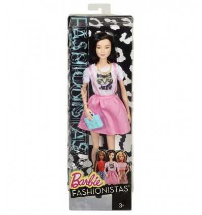 Amigos amantes de la moda de Barbie vestido con la falda rosa con tirantes BCN36/CLN66 Mattel- Futurartshop.com