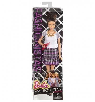 Amigos amantes de la moda de Barbie vestido con falda a cuadros violeta BCN36/CLN64 Mattel- Futurartshop.com