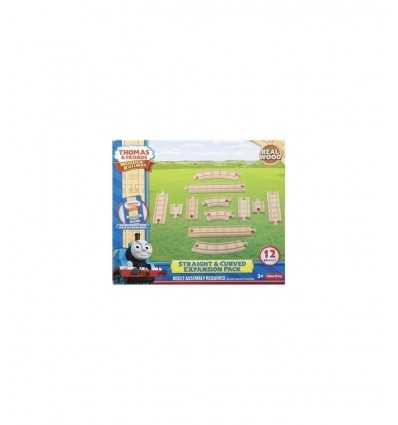 Mattel pista in legno Straight & Curve expansion pack Wooden Railway Y4089 Y4089 Mattel- Futurartshop.com