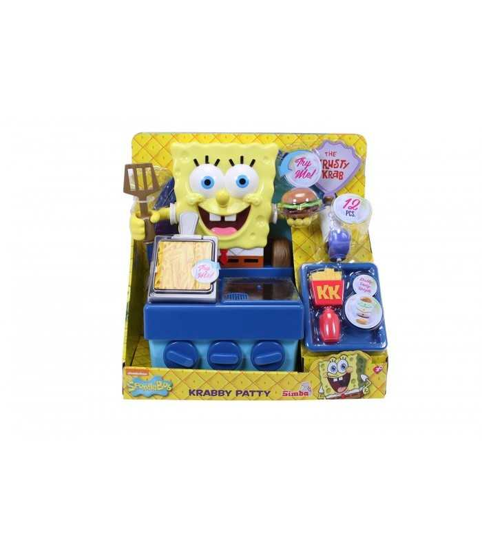 SpongeBob Cooking Krabby Patty With Simba Toys
