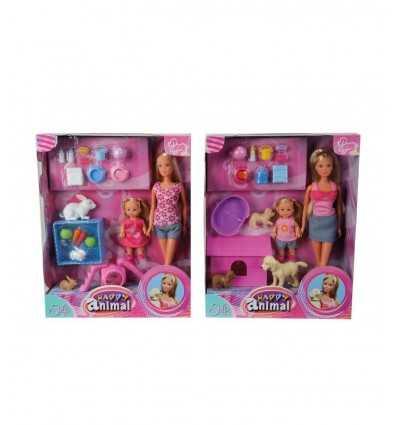 Steffi Love und Evi-Puppe mit 2 Tiermodellen 105732156 Simba Toys- Futurartshop.com