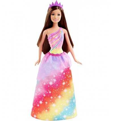 multi color Princess Barbie with long hair DHM49/DHM52 Mattel- Futurartshop.com