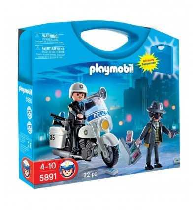 Briefcase portable playmobil police 058911 Playmobil- Futurartshop.com