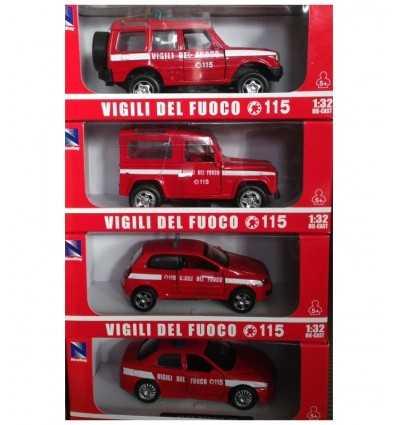 veicolo auto vigili del fuoco 4 modelli 55193I NewRay-Futurartshop.com