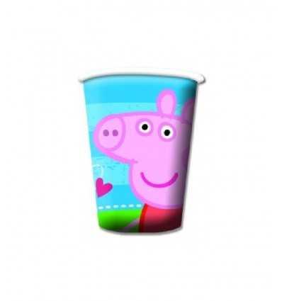8 Bicchieri Peppa Pig CMG190953 CMG190953 Como Giochi - Futurartshop.com