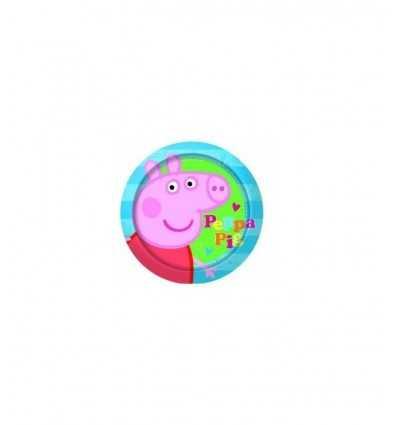 8 plaques de 20 cm de Peppa Pig CMG300017 CMG300017 Como Giochi - Futurartshop.com