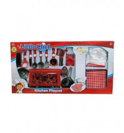 juego de cocina 17 piezas con sombrero de chef y accesorios 399133 Grandi giochi- Futurartshop.com