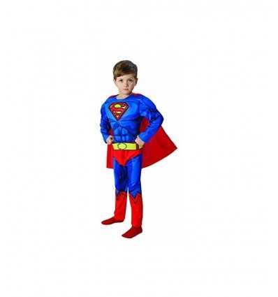 スーパーマンの衣装を 5-6 年の筋肉とデラックス IT610781-M Como Giochi - Futurartshop.com