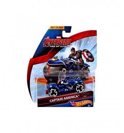 hot wheels motorcycle racing avengers captain america CDM36/CDM38 Mattel- Futurartshop.com