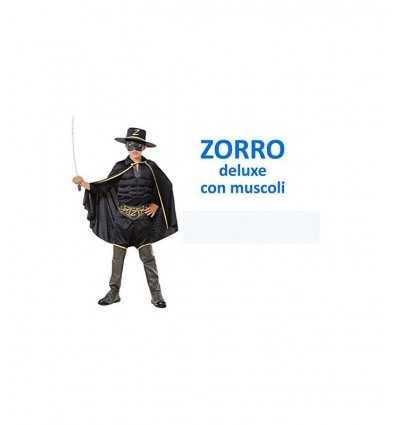 Carnival costume zorro deluxe 8-10 years 375403 Grandi giochi- Futurartshop.com