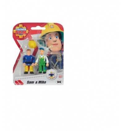 Ampolla de Sam del bombero con 2 personajes sam y mike NCR18233/3 Gig- Futurartshop.com