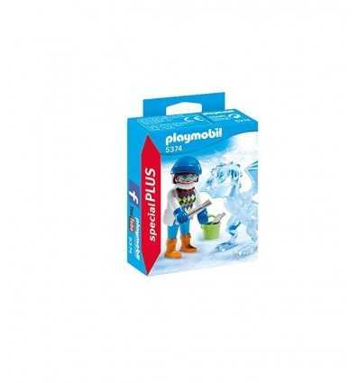 Artista de Playmobil con la escultura de hielo 5374 Playmobil- Futurartshop.com