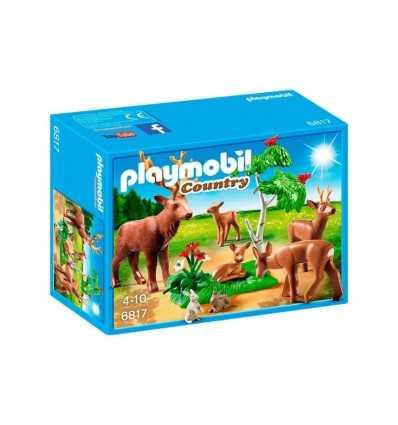 Manada de ciervos de Playmobil con cachorros y liebres 6817 Playmobil- Futurartshop.com