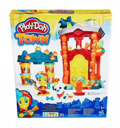Play Doh Town caserma dei pompieri B3415EU40 Hasbro-Futurartshop.com
