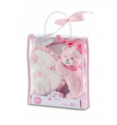 Teddy med rosa speldosa vaggvisa Bontempi- Futurartshop.com