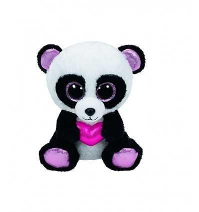 Plush beanie boos panda with heart 15 cm 36174 - Futurartshop.com