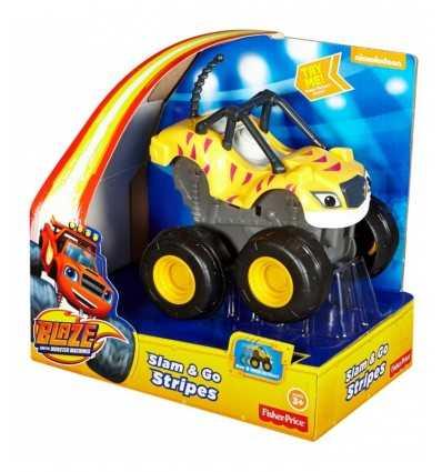 Fahrzeug Brand zermalmt und Rasendes gelbe Streifen CGK22/CGK25 Mattel- Futurartshop.com