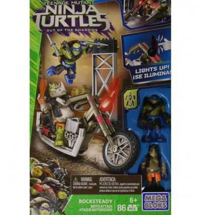 tantarughe ninja motorcykel attack mega bloks rocksteady och leo DPW10/DPF79 Mattel- Futurartshop.com