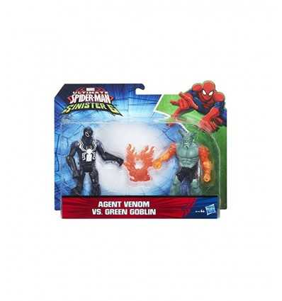 set 2 personaggi agent venom contro green goblin B5761EU60/B6140 Hasbro-Futurartshop.com