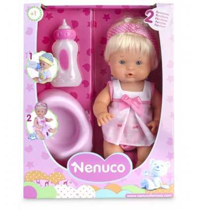 bambola nenuco con biberon e vasino rosa 700012665/20963 Famosa-Futurartshop.com