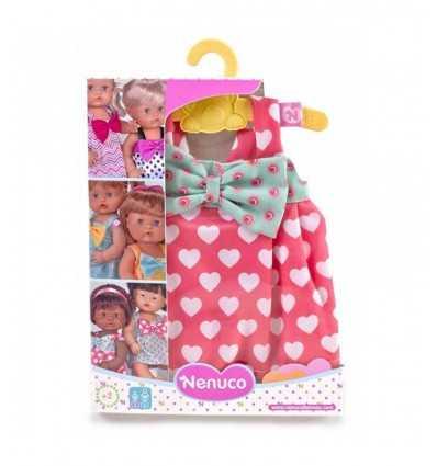 vestido Nenuco rosa con corazones y el arco 700012824/21327 Famosa- Futurartshop.com