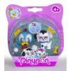 Pinypon set 2 Jungen, 2 Farben Hund und Papagei 700012732/20856 Famosa- Futurartshop.com