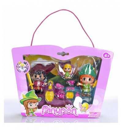 Peter Pan und Captain Hook und Tinker Bell Pinypon Zeichen 700012738 Famosa- Futurartshop.com