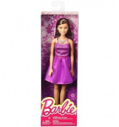 紫色のドレスとバービー華やかさブルネット T7580/DGX81 Mattel- Futurartshop.com