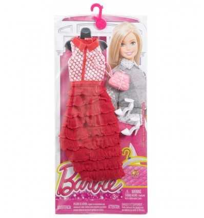 glamorous barbie red long dress with accessories CFX92/DHC59 Mattel- Futurartshop.com