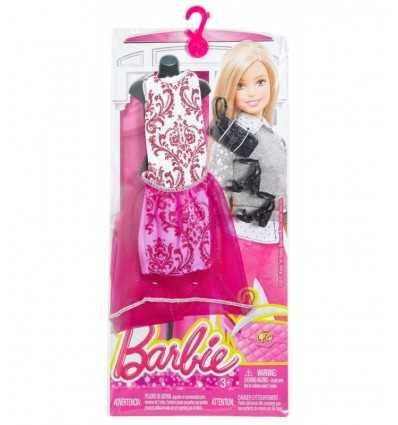 glamoroso vestido largo morado de barbie con accesorios CFX92/DMF52 Mattel- Futurartshop.com