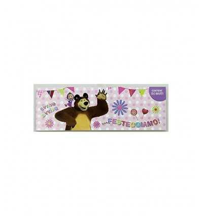 Masha and the bear party invitations pink 2 models 160086 Accademia- Futurartshop.com