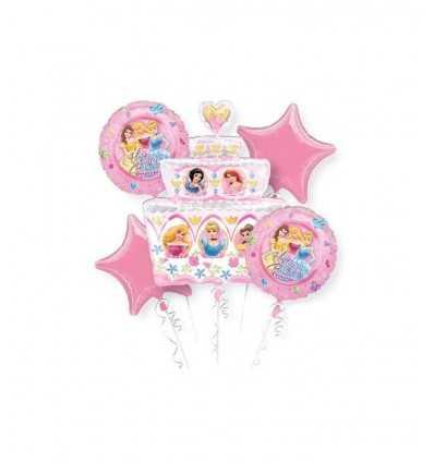 conjunto de globos de fiesta princesa Disney A14837-37 Magic World Party- Futurartshop.com