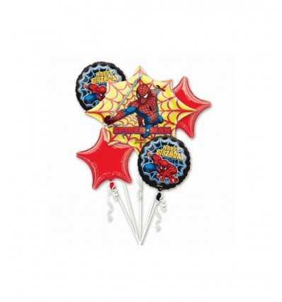 spiderman balony urodziny zestaw A18658-37 Magic World Party- Futurartshop.com